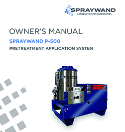 SprayWand P-500 Owners Manual Thumbnail Image
