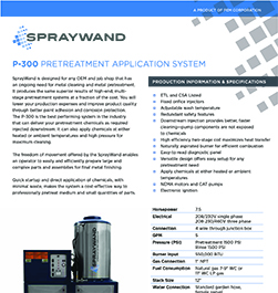 SprayWand P-300 Product Literature Thumbnail Image