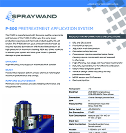 SprayWand P-500 Product Literature Thumbnail Image